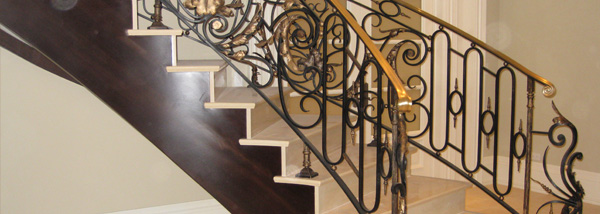 Chicago Custom Design Wrought Iron Railings